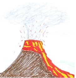 Zeichnung von Vulkan